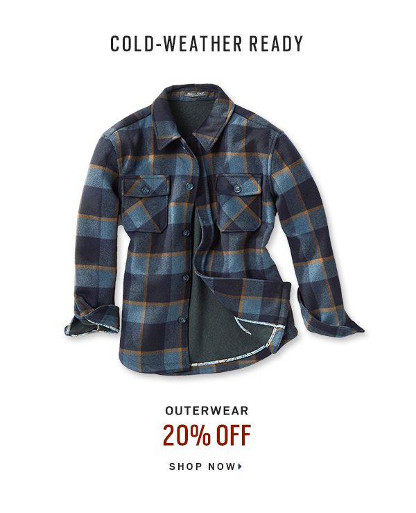 Cold-Weather Ready Outerwear 20% Off - Shop Now