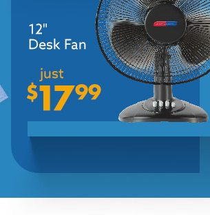 Desk Fan Just 17 Dollars and 99 cents
