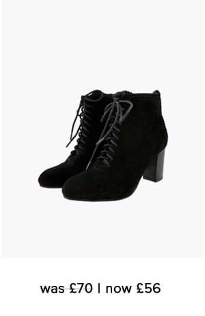 LIA SUEDE LACE UP ANKLE BOOTS