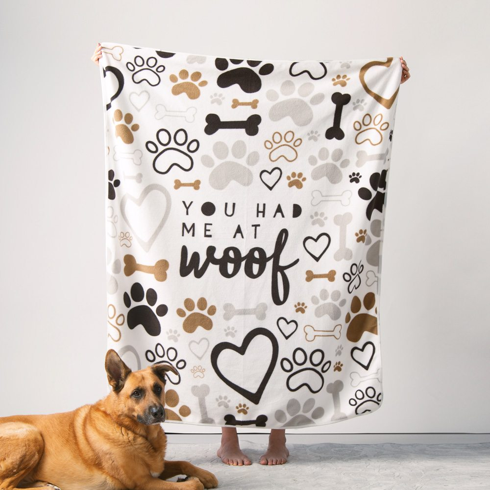 Image of Give Warmth™️ Buy One Give One Fleece Blanket: You Had Me At Woof 60