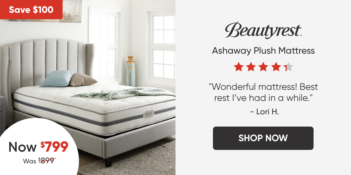 Beautyrest Ashaway Plush Mattress - Now $799