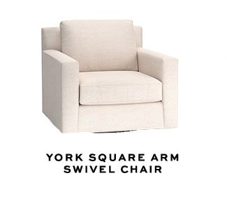 YORK SQUARE ARMSWIVEL CHAIR