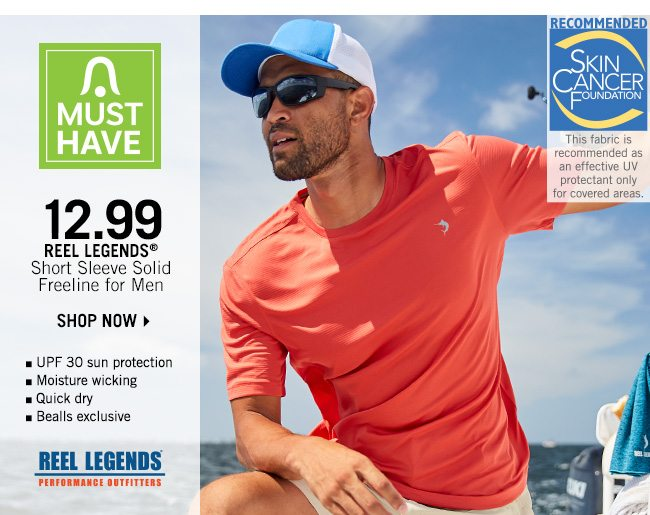 Shop 12.99 Reel Legends Short Sleeve Solid Freeline for Men