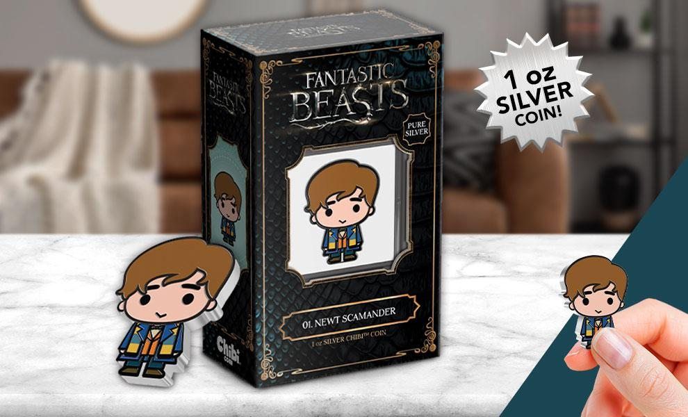 NOW SHIPPING Newt Scamander 1oz Silver Coin by New Zealand Mint