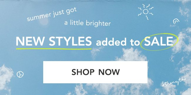 Shop New Styles Added to Sale