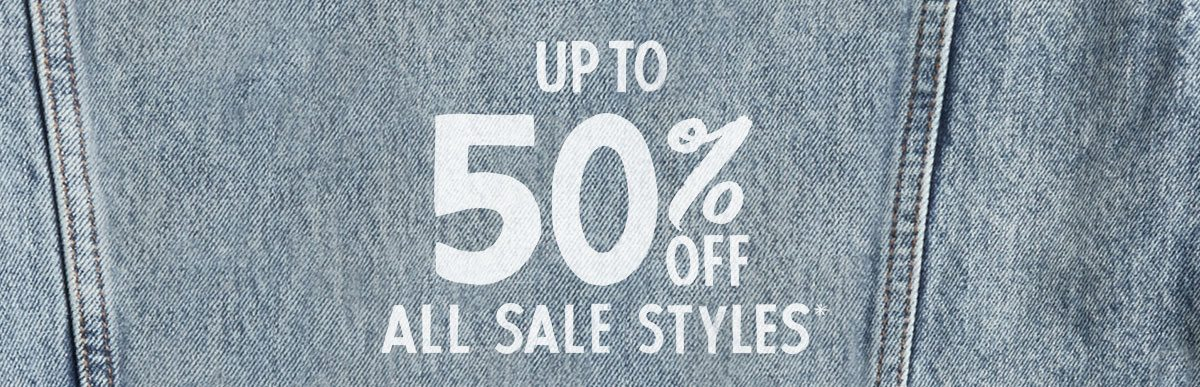 Up to 50% off all sale styles