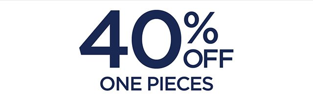 40% Off One Pieces