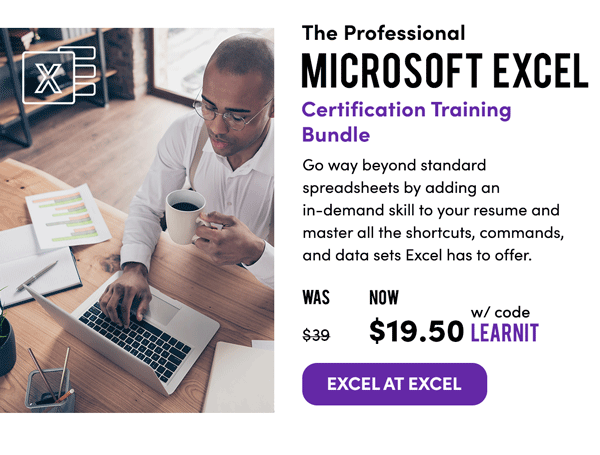Professional Microsoft Excel Training Bundle   Excel at Excel