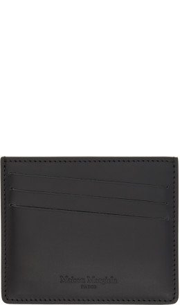 Maison Margiela - Black Coated Calfskin Card Holder