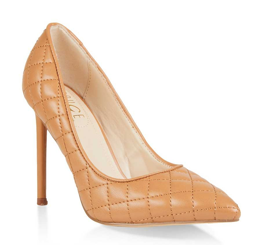 Quilted Pointed Toe Stilettos