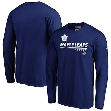 Fanatics Branded Toronto Maple Leafs Blue Authentic Pro Core Collection Prime Long Sleeve T-Shirt