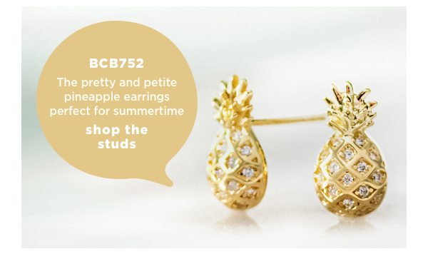 The pretty and petite pineapple earrings perfect for summertime