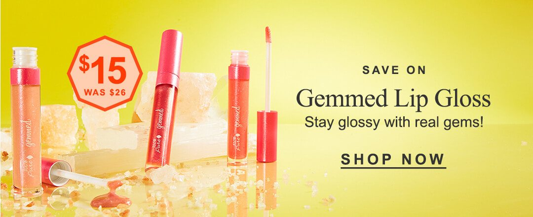 save on gemmed lip gloss stay glossy with real gems!