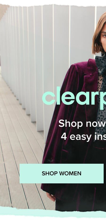 Clearpay, Shop women
