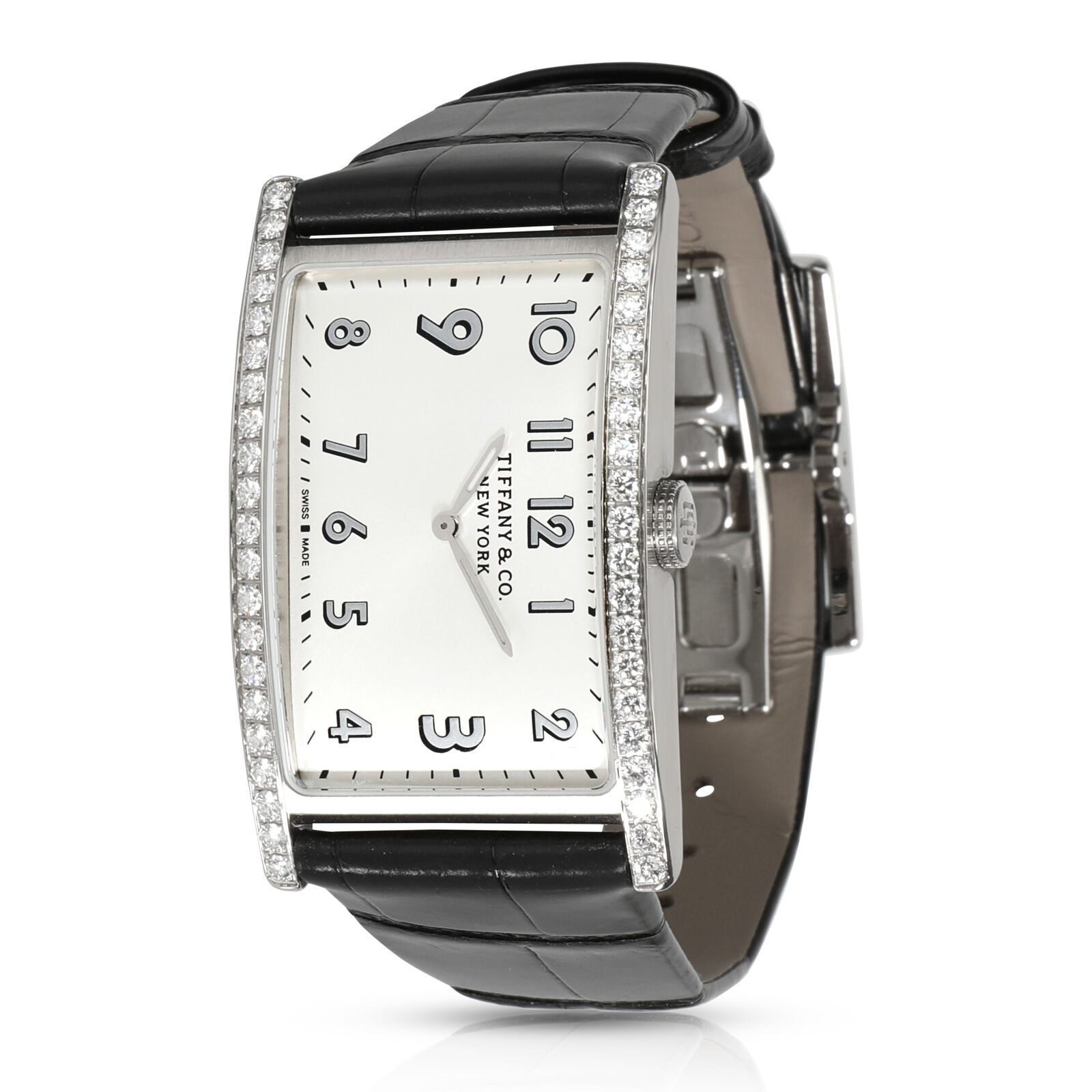 Image of Tiffany & Co. East West 60558078 Women's Watch in Stainless Steel