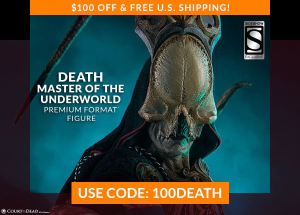 $100 OFF & FREE U.S. Shipping! 3003961 Sideshow Exclusive Death: Master of the Underworld Premium Format Figure