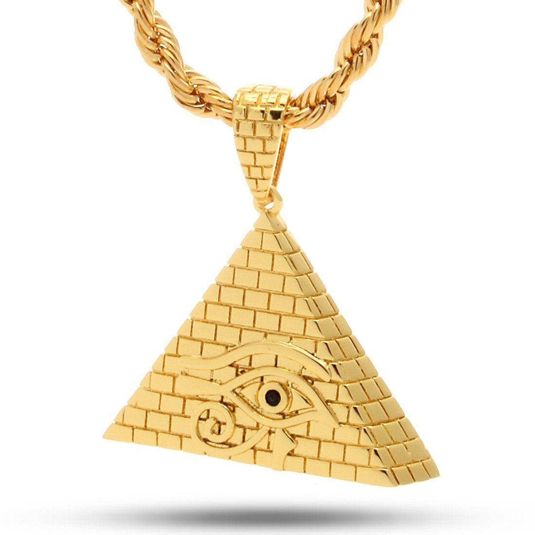 The 14K Gold All Seeing Eye Pyramid Necklace