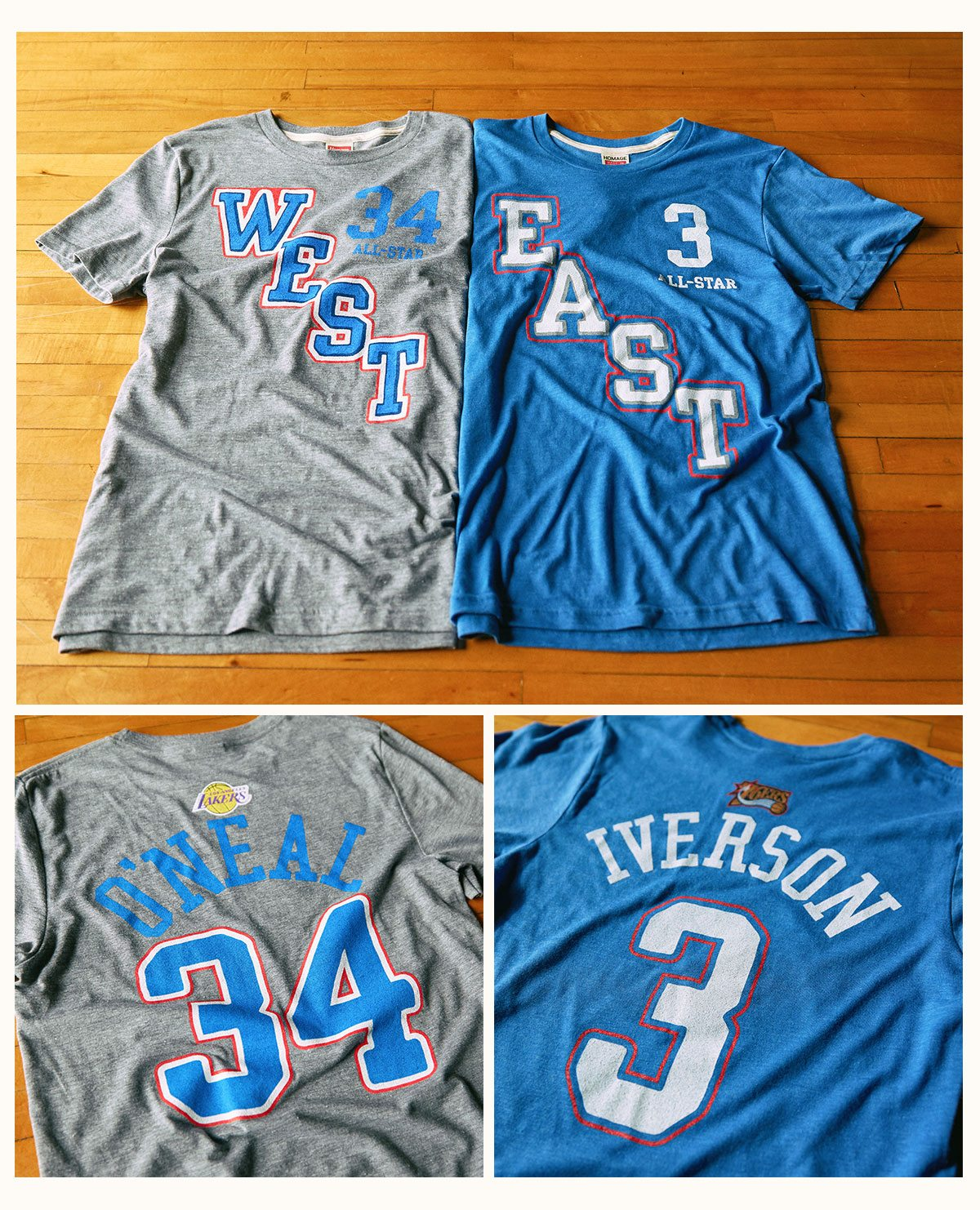 Shaq and Allen Iverson All-Star Jersey Tees