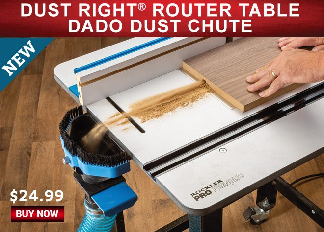 New! Dust Right Router Table Dado Dust Chute