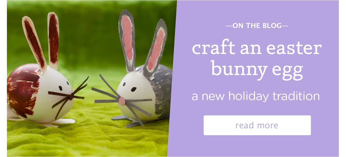 craft an easter bunny egg