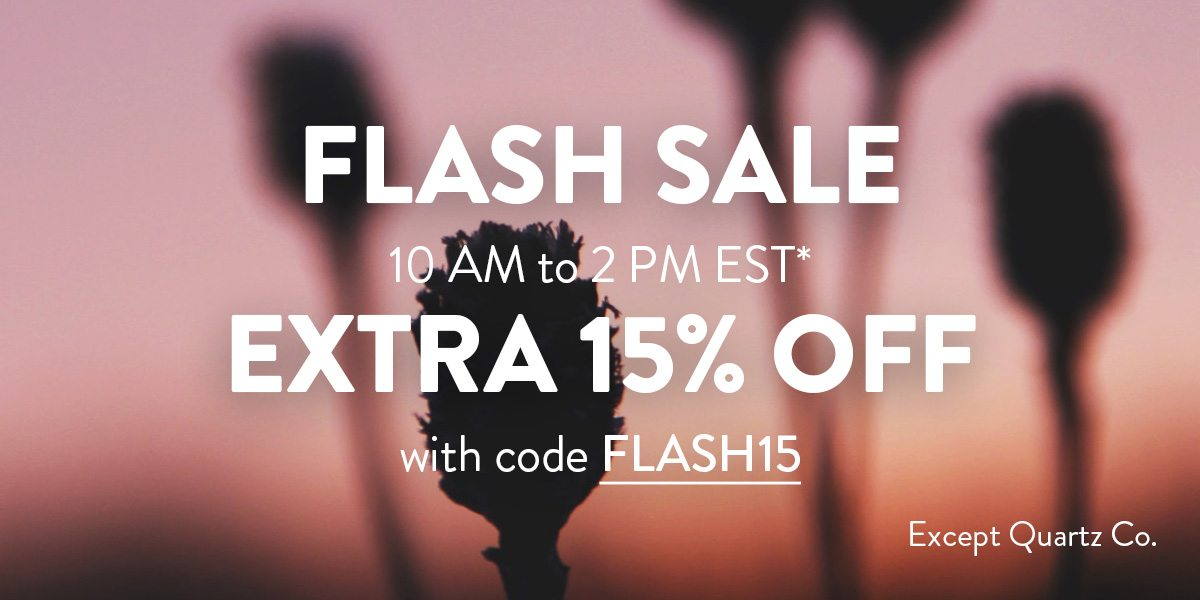 Flash 15% off