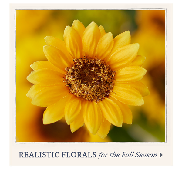 Realistic florals for the Fall Season