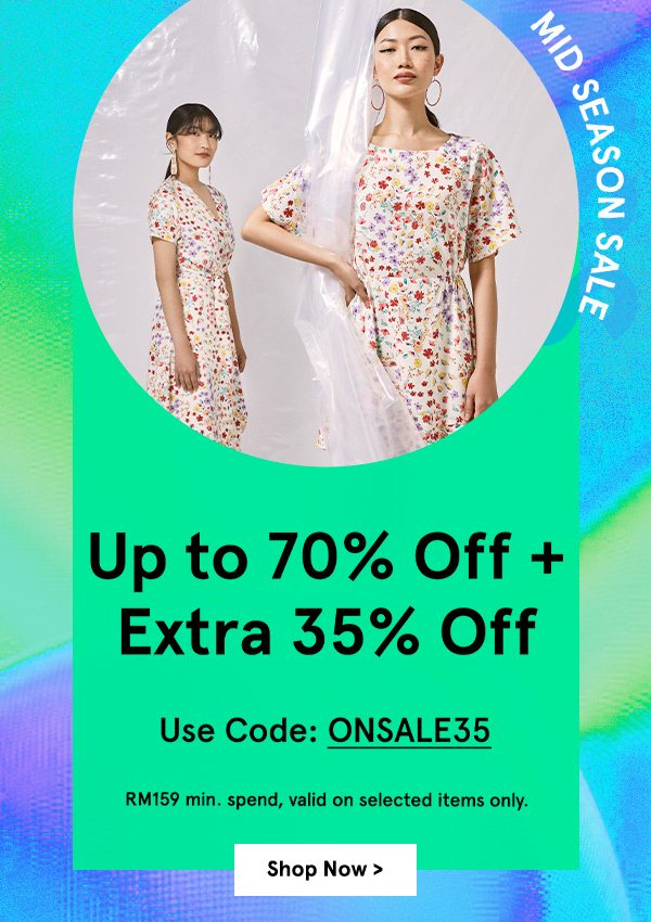 Up to 70% Off + Extra 35% Off!