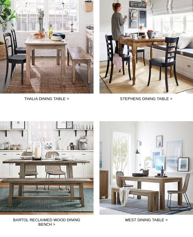 Back In Stock Bartol Reclaimed Wood Dining Table Pottery Barn Email Archive