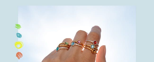 Shop Colorful Rings