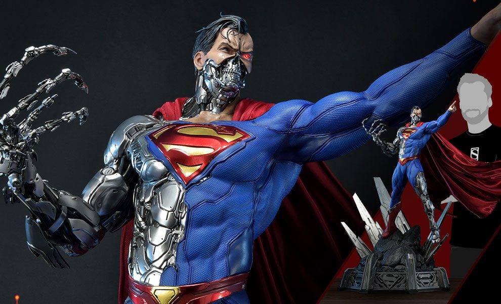 cyborg superman statue