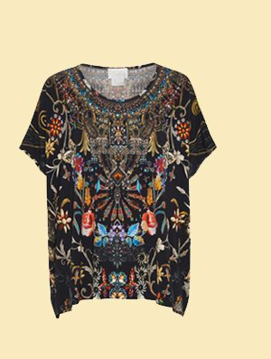 E FIT ROUND NECK TEE DANCING IN THE DARK