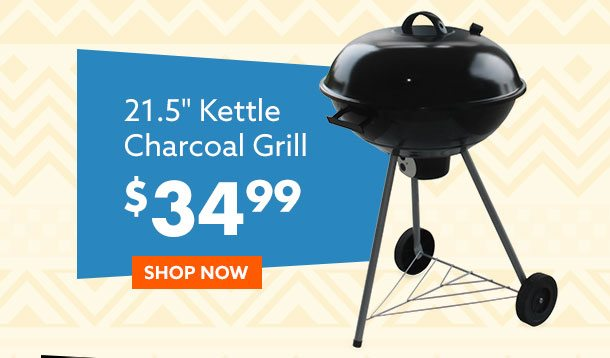 Kettle Charcoal Grill $34.99