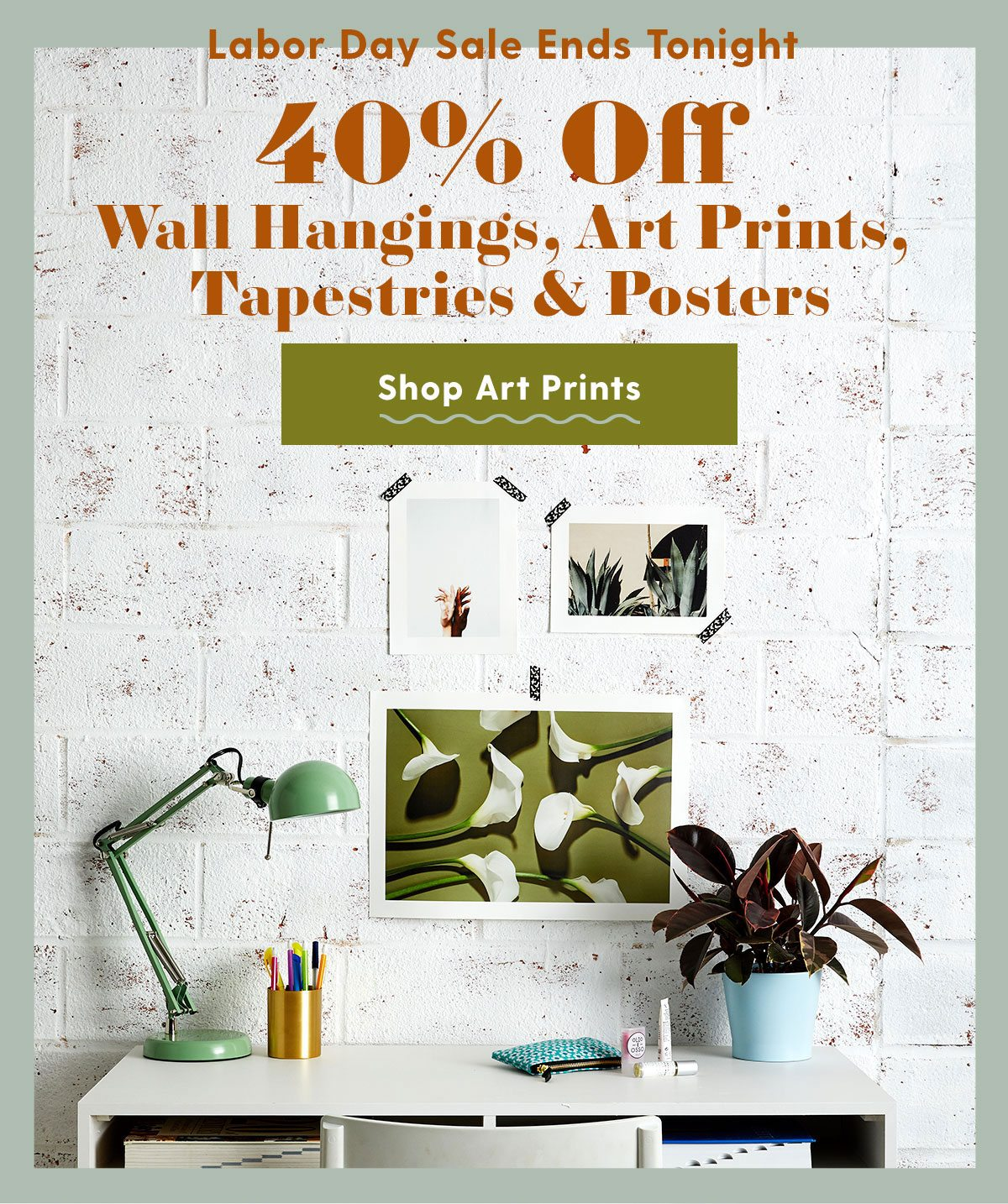 40% Off Wall Hangings, Art Prints, Tapestries + Posters >