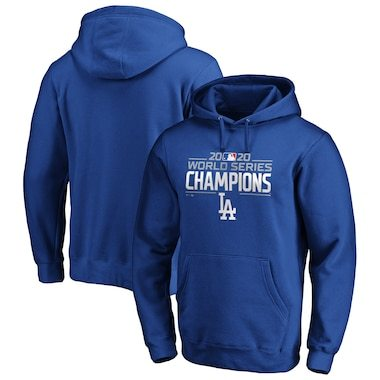 Los Angeles Dodgers Fanatics Branded 2020 World Series Champions Logo Pullover Hoodie - Royal