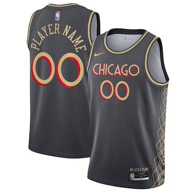 Chicago Bulls Nike 2020/21 Swingman Custom Jersey Gray - City Edition