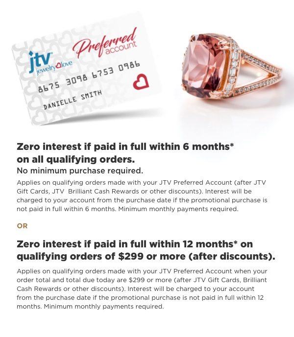 More ways to pay with JTV Preferred Account