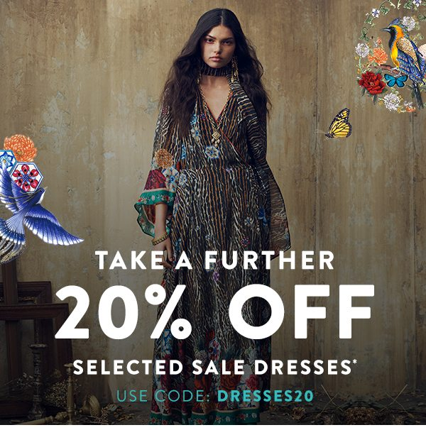 Take a further 20% off selected sale dresses
