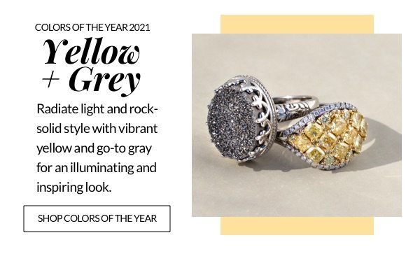 Shop colors of the year, 2021 yellow and grey