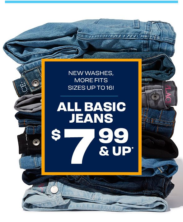 $7.99 & Up All Basic Jeans