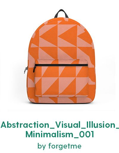 Abstraction_Visual_Illusion_Minimalism_001 Backpack by forgetme