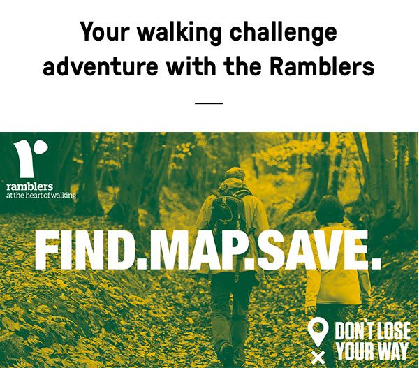 Ramblers walking challenge