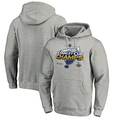 St. Louis Blues Fanatics Branded 2019 Stanley Cup Champions Locker Room Pullover Hoodie - Heather Gray