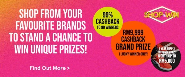 Shop From Your Favourite Brands To Stand A Chance To Win Unique Prizes!