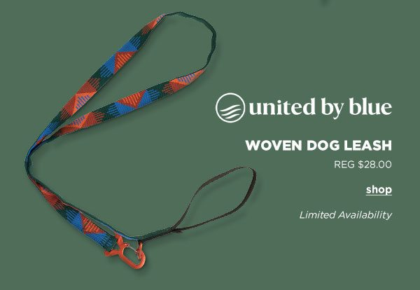 United By Blue Woven Dog Leash - Click to Shop