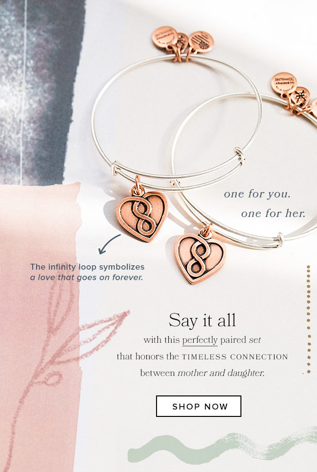 Shop the Mother Daughter Infinity Set of 2.