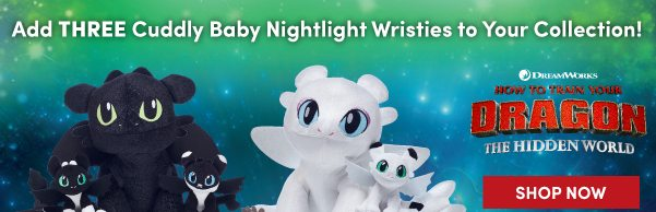 IN HAND Build A Bear Night Light Set How To Train Your Dragon Nighlight Baby