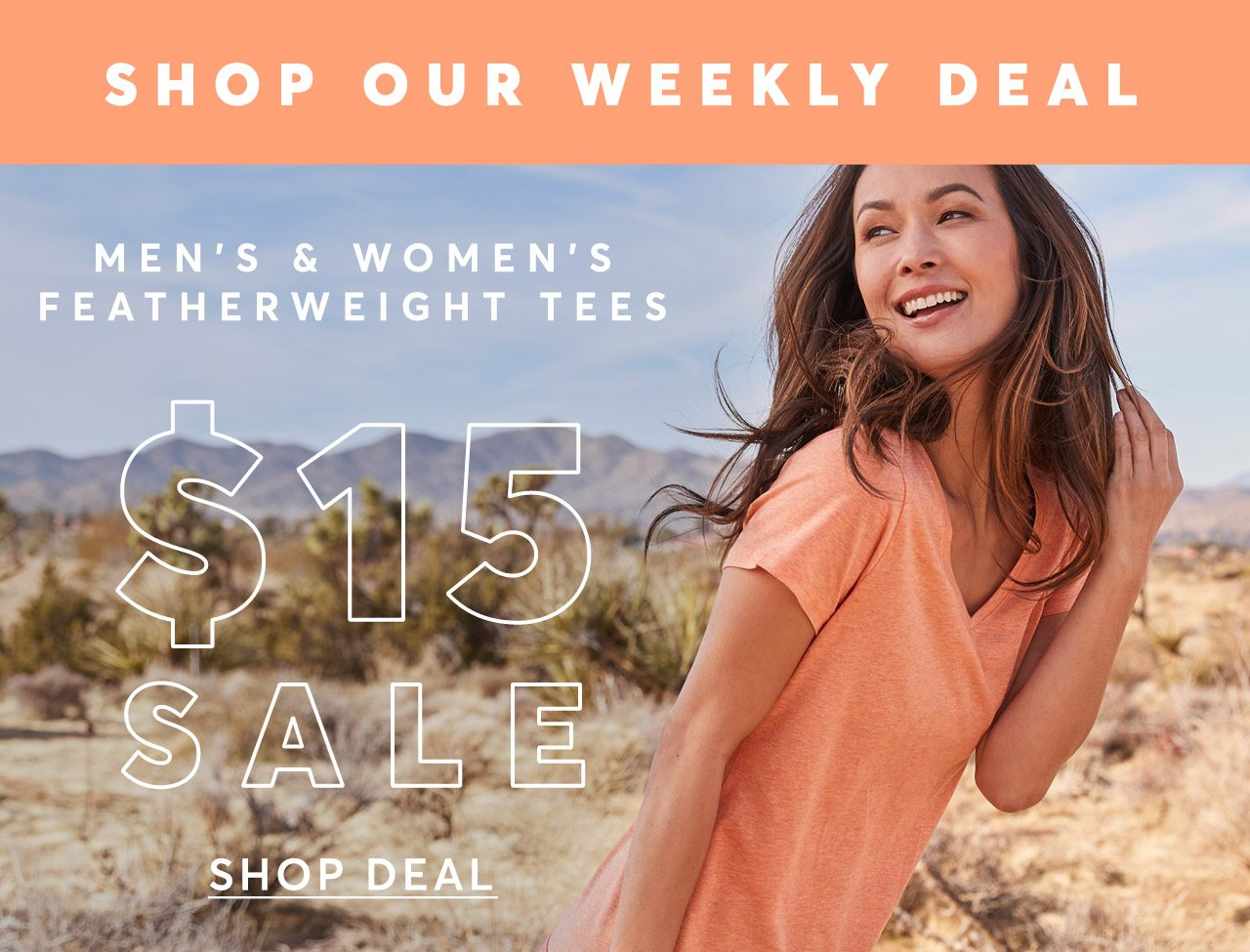 Shop Our Weekly Deal: Featherweight Tees $15