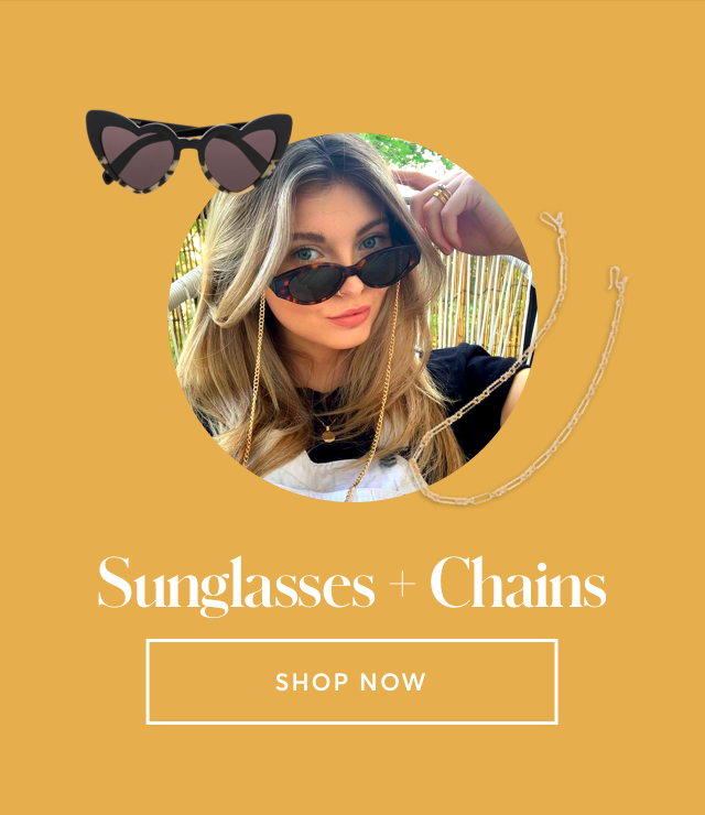 sunglasses and chains