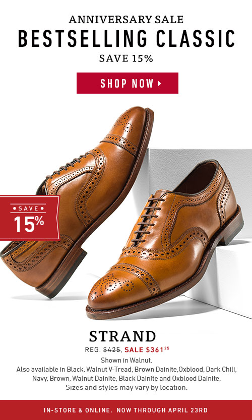 Save 15% on our best selling classic Strand.