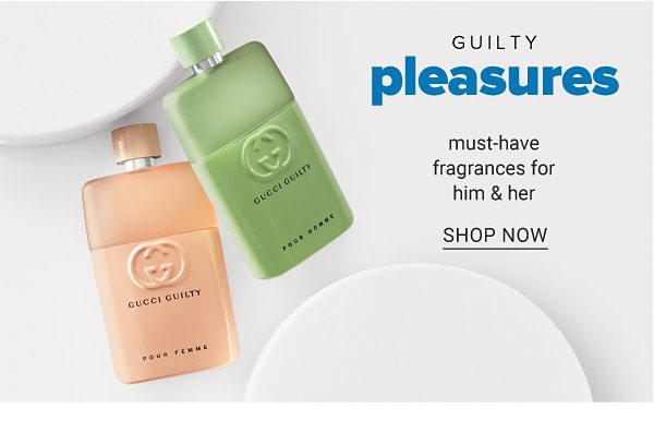 Guilty pleasures - must-have fragrances for him & her. Shop Now.